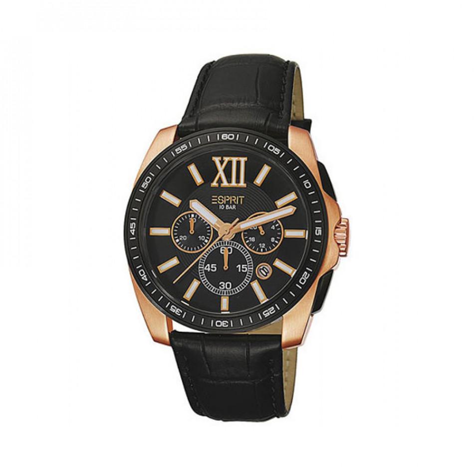 Мъжки часовник Esprit черен със златисти детайли es103591003