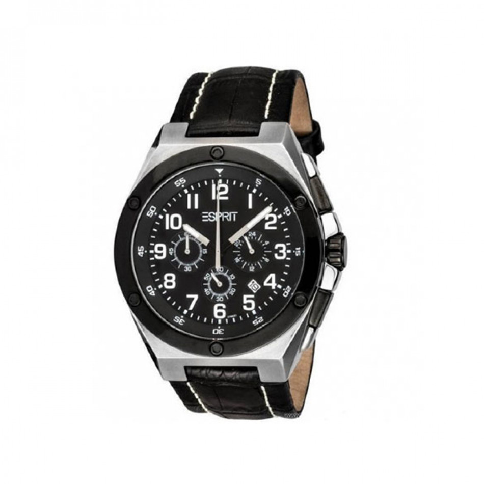 Мъжки часовник Esprit черен с малък секундарник ES101981001