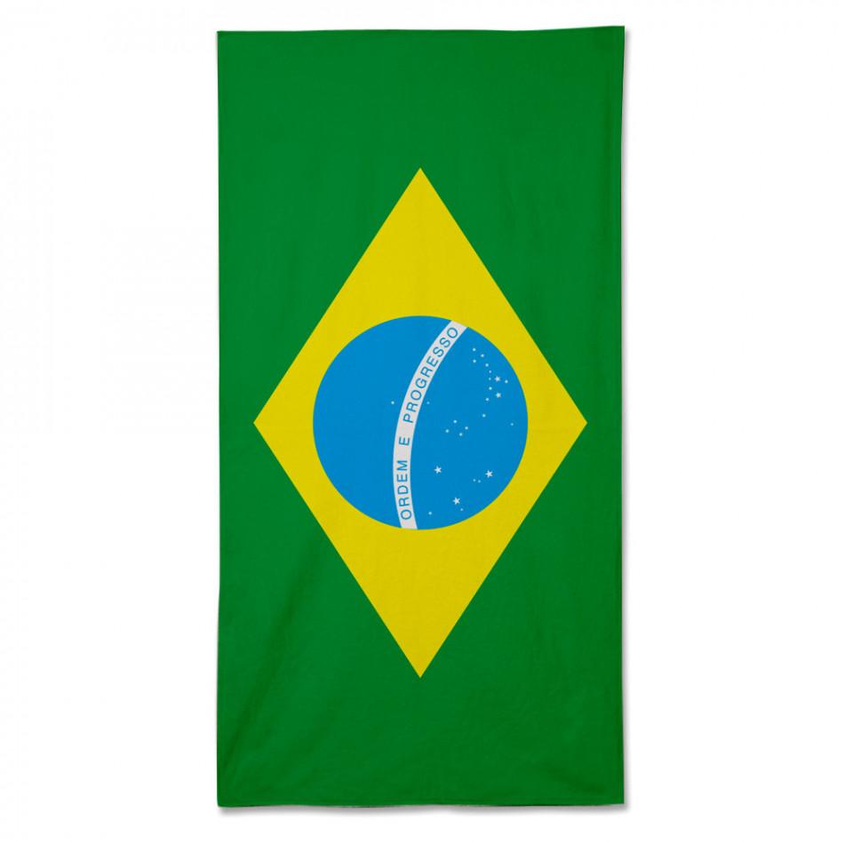 Плажна кърпа с Бразилското знаме fm090714-3