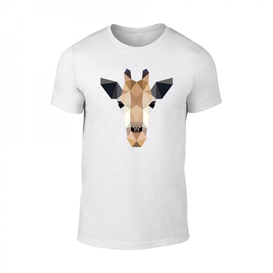 Мъжка бяла тениска Giraffe TMN-M-191