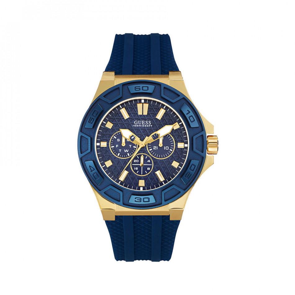 Мъжки часовник Guess син със златисти елементи W0674G2