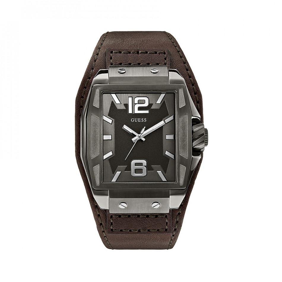 Мъжки часовник Guess с кафява каишка W0267G1