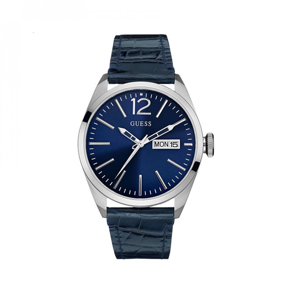 Мъжки часовник Guess със син циферблат и синя каишка W0658G1