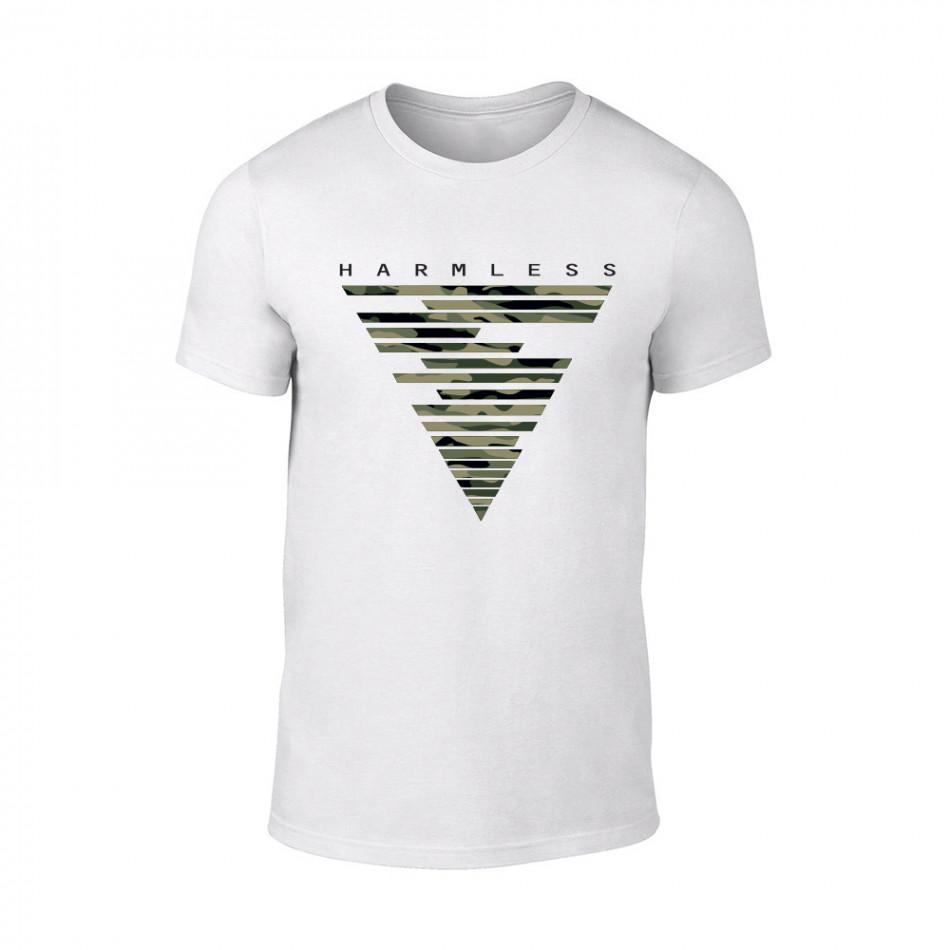 Мъжка бяла тениска Harmless TMN-M-087