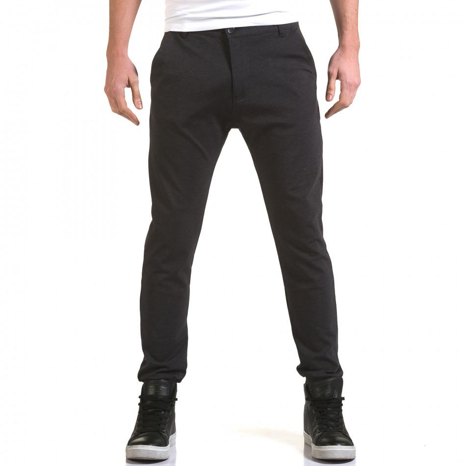 Мъжки синьо-сив панталон с италиански джобове it090216-27