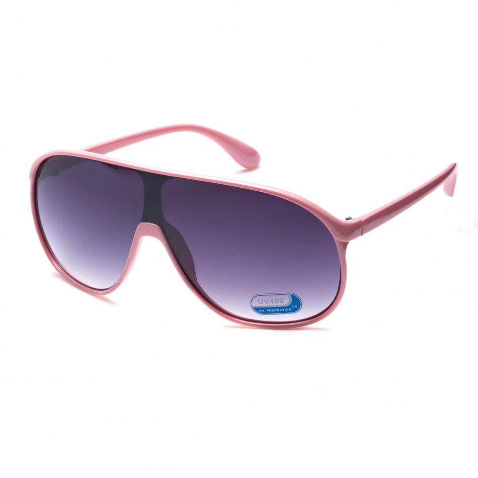 Мъжки светло розови слънчеви очила маска it151015-11