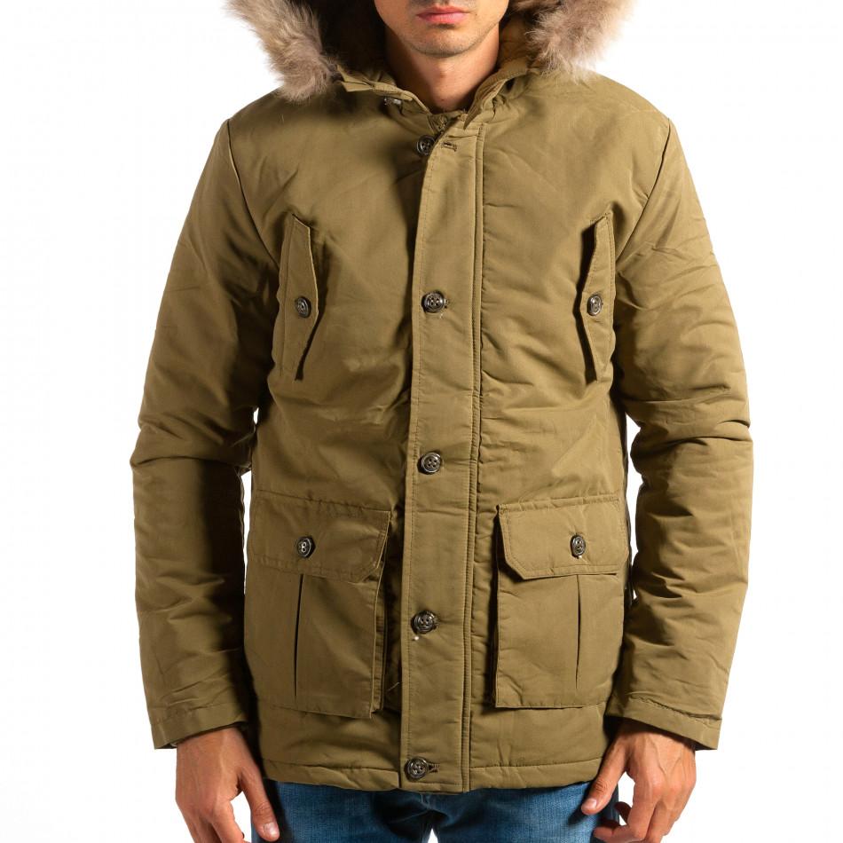 Мъжко зелено яке с големи джобове ca161014-8