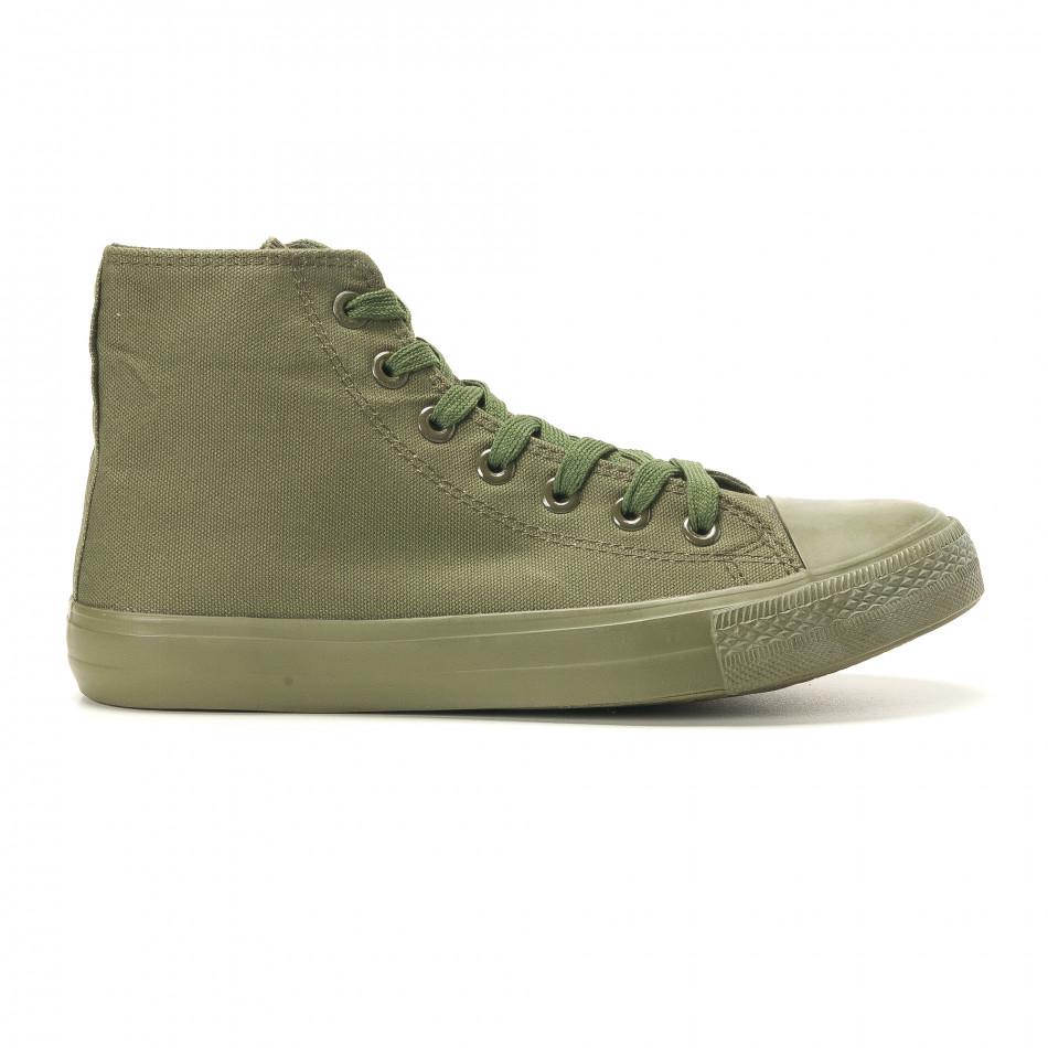 Мъжки високи кецове военно зелени iv220420-3