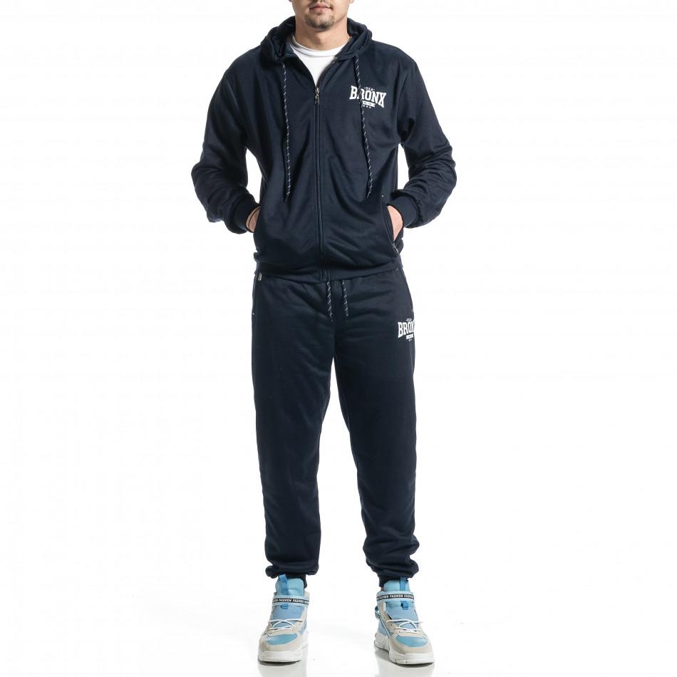 Мъжки син спортен комплект Big Size it270221-56