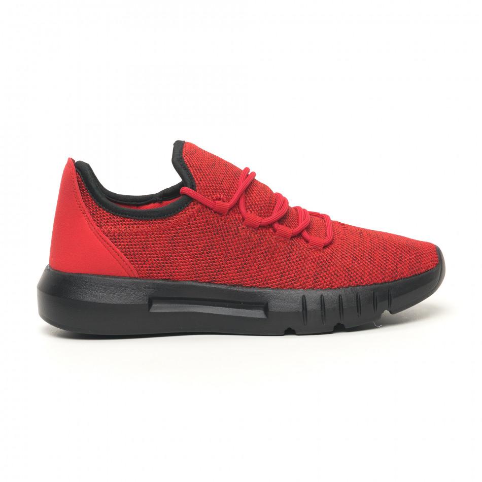 Леки мъжки маратонки червен меланж it041119-1