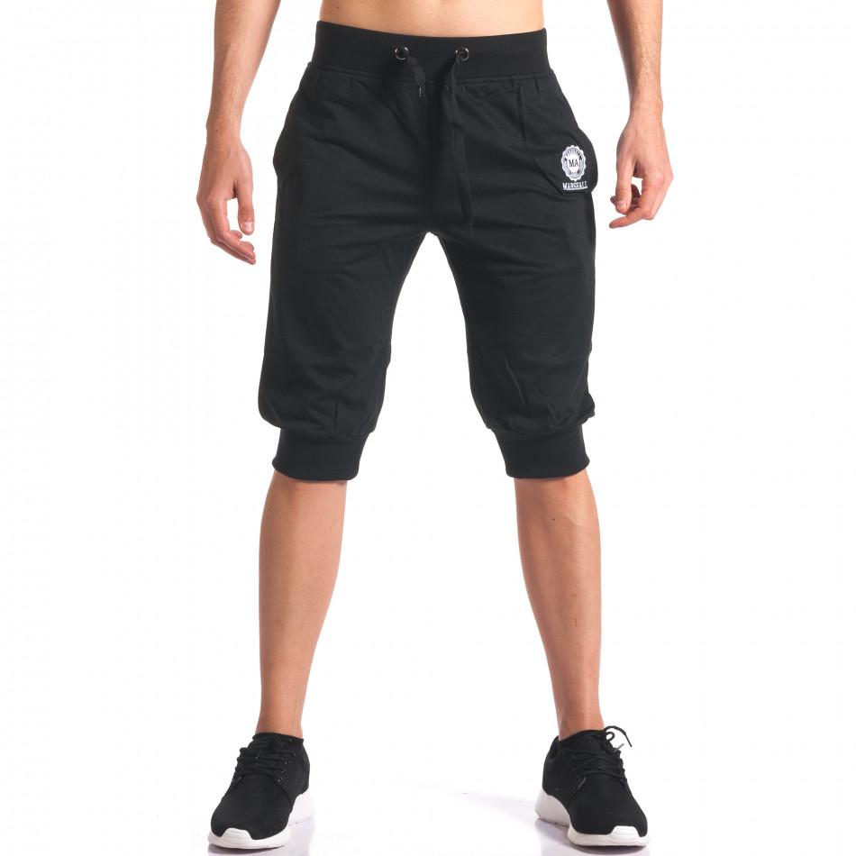 Мъжки черни къси потури със странични джобове it250416-13