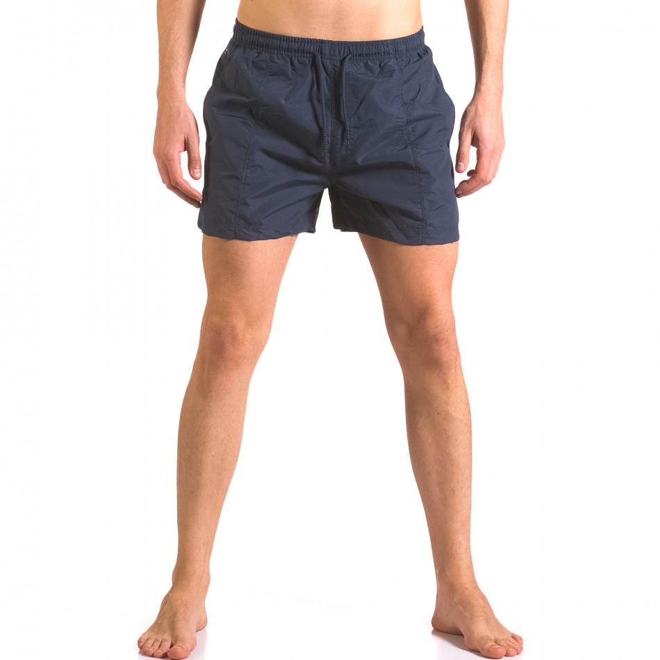 Мъжки бански шорти тъмни сини бързосъхнещи ca050416-17