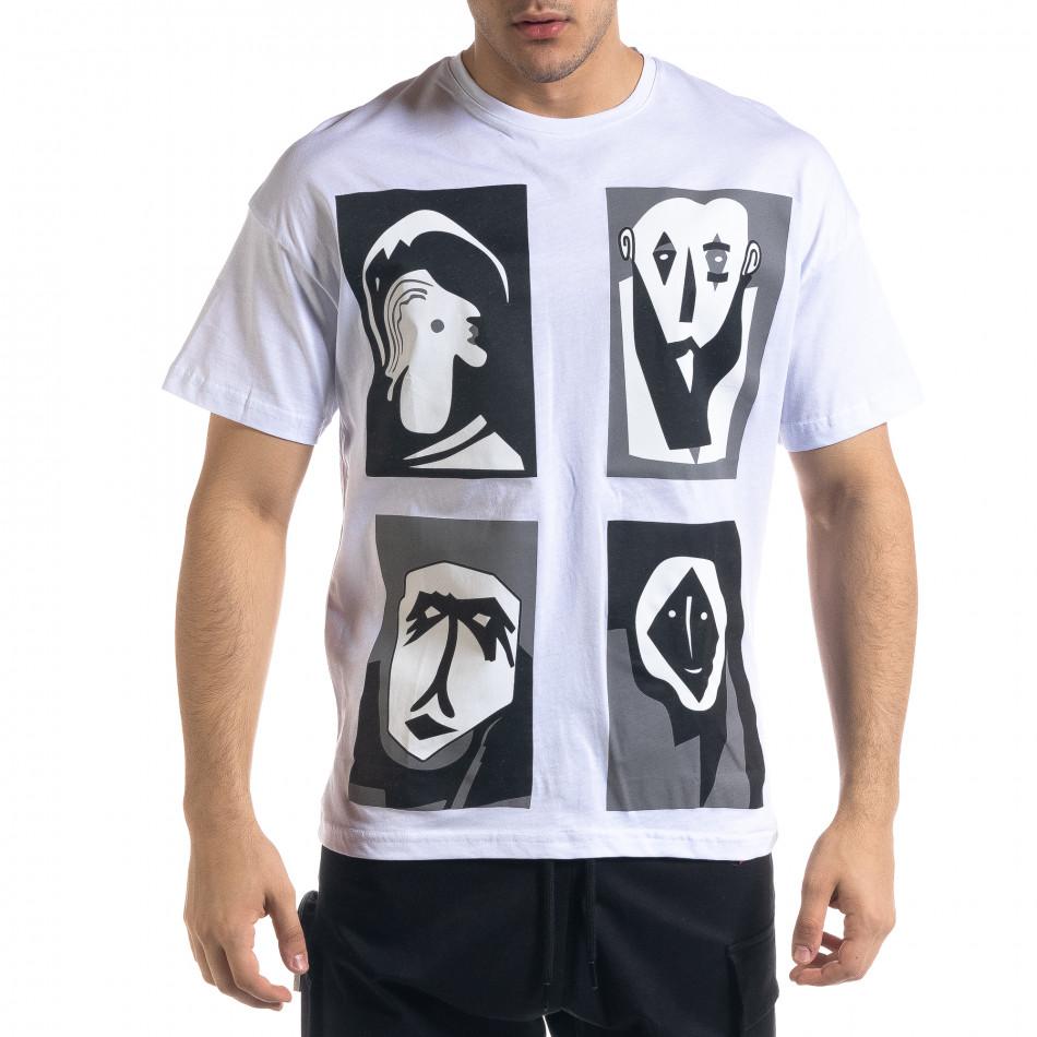 Мъжка тениска с графичен принт tr110320-12