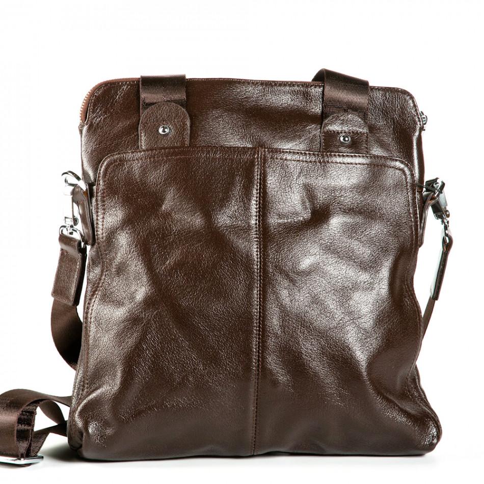 Мъжка чанта с универсално приложение 1182-brown