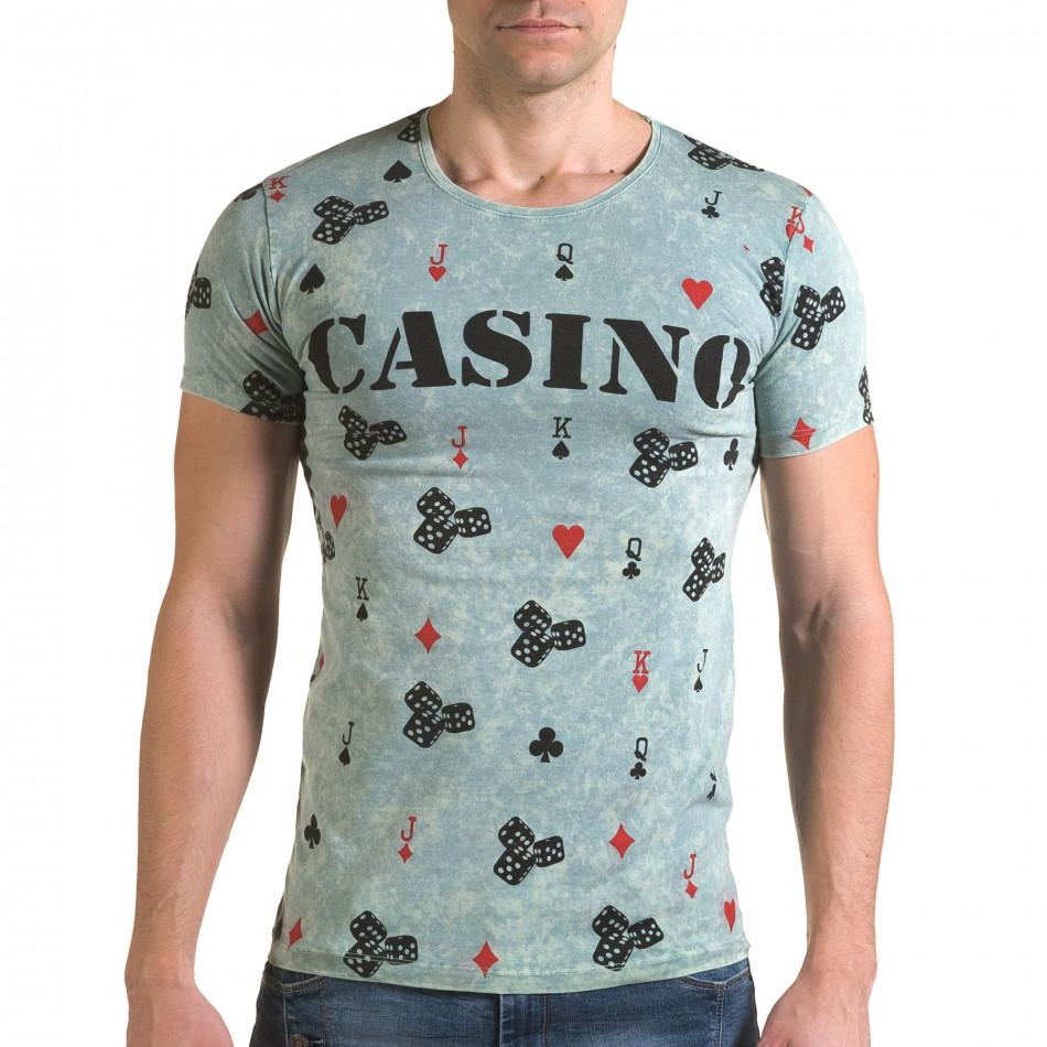 Мъжка зелена тениска Casino il120216-32