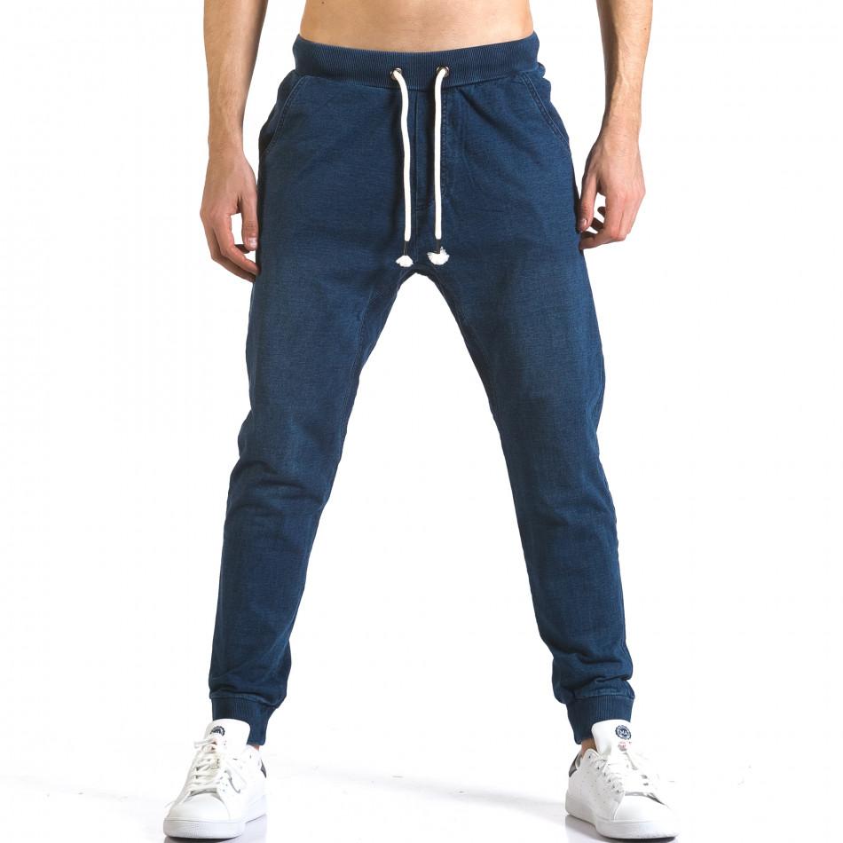 Мъжки сини потури с ефект на дънки it090216-57