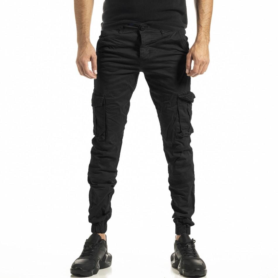 Черен мъжки панталон Cargo Jogger tr161220-22
