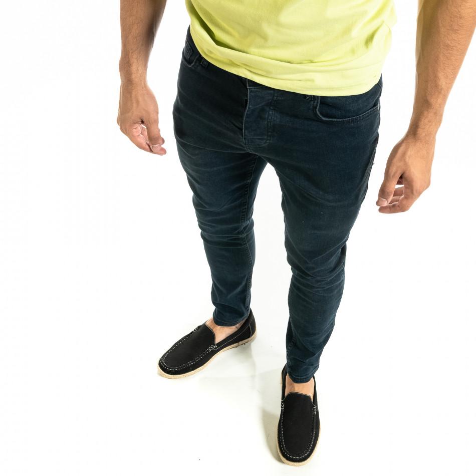 Мъжки сини дънки Basic Slim fit tr020920-10