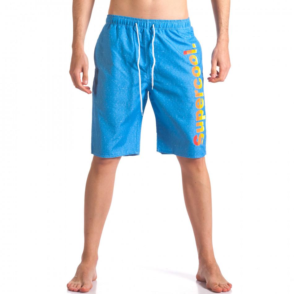 Мъжки сини бански с надпис it250416-44