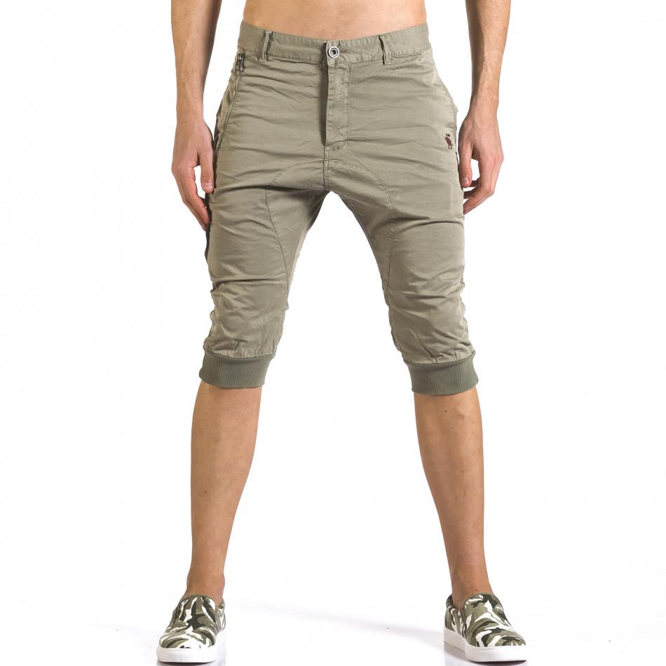 Мъжки зелени къси панталони тип потури it110316-52