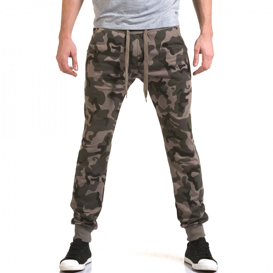 Мъжки потури кафяво-зелен камуфлаж it090216-47