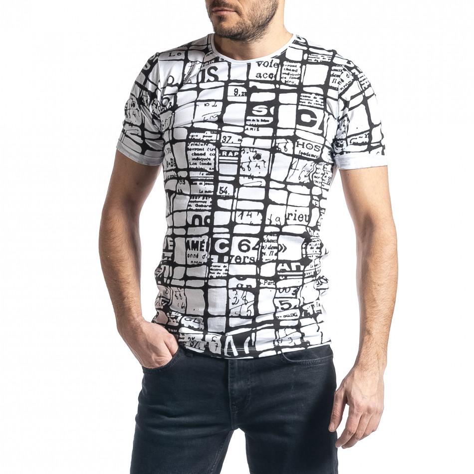Мъжка тениска Raster в бяло tr010221-17