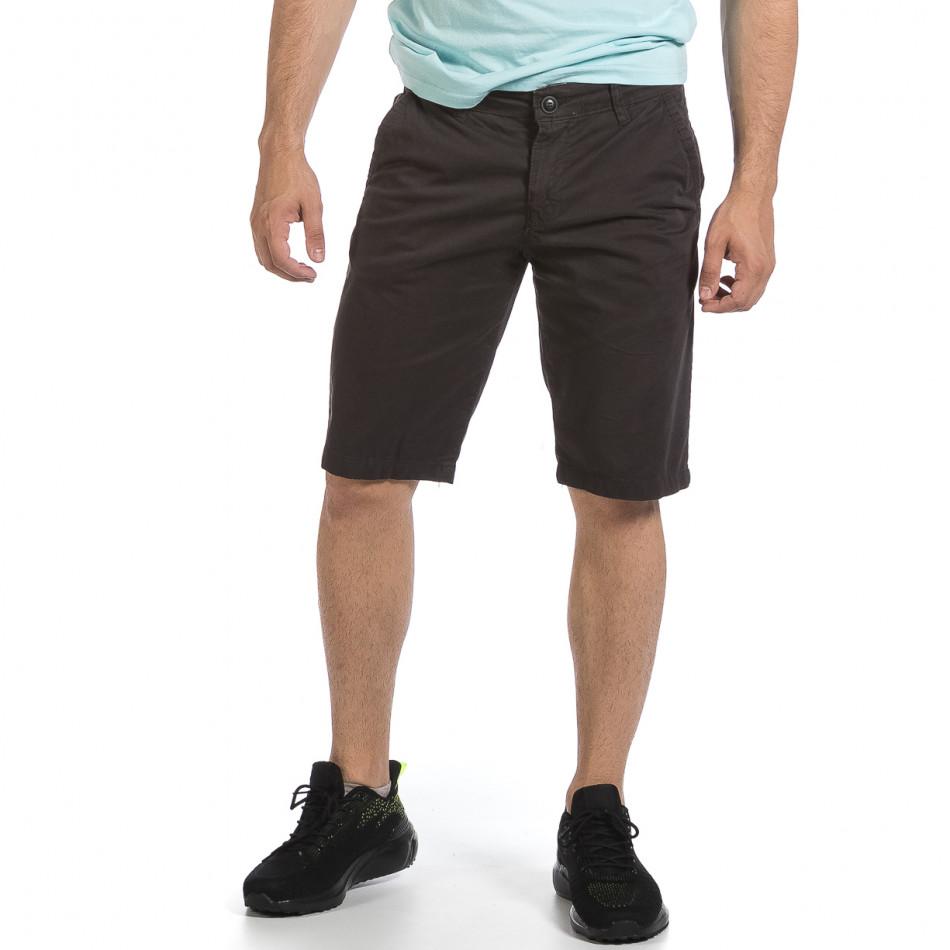 Мъжки сиви къси панталони & Big Size tr040621-25