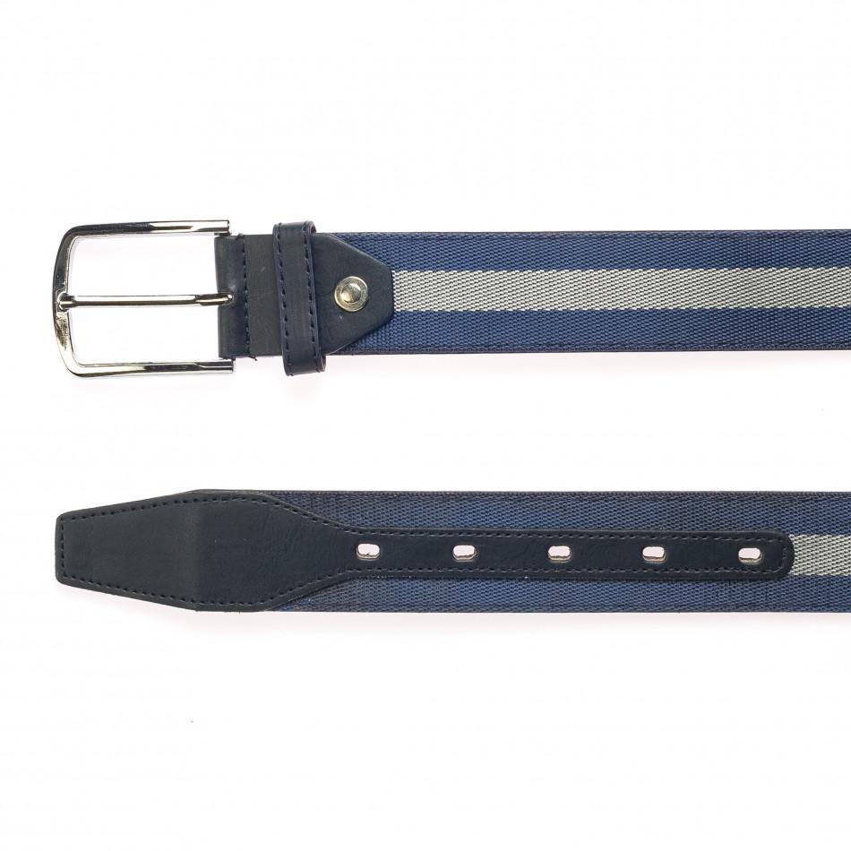 Мъжки тъмно син колан със сива лента it250915-15