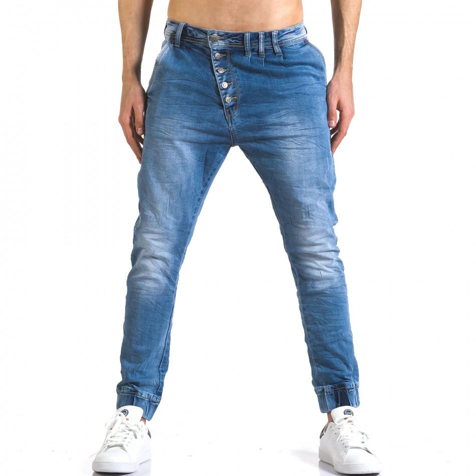 Мъжки светло сини дънки тип потури it110316-26