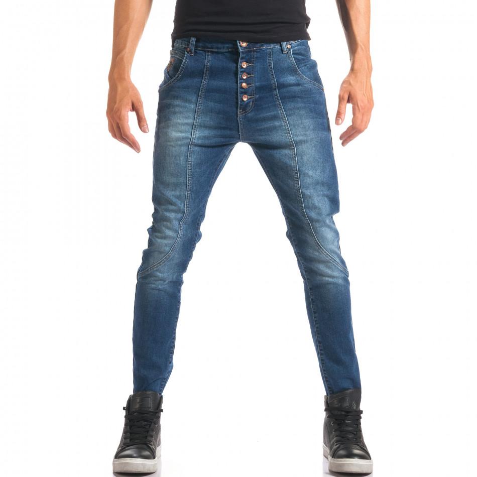 Мъжки дънки със смъкнато дъно и копчета it150816-25