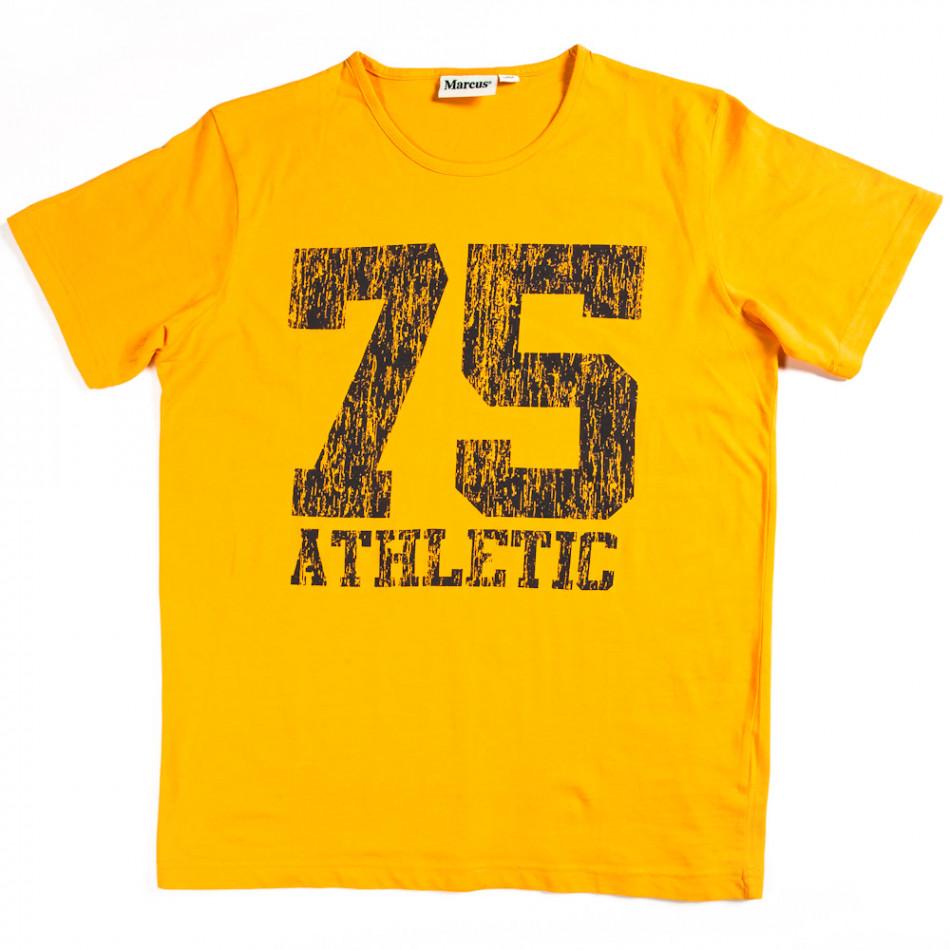 Мъжка тениска Marcus с яка щампа  070213-5