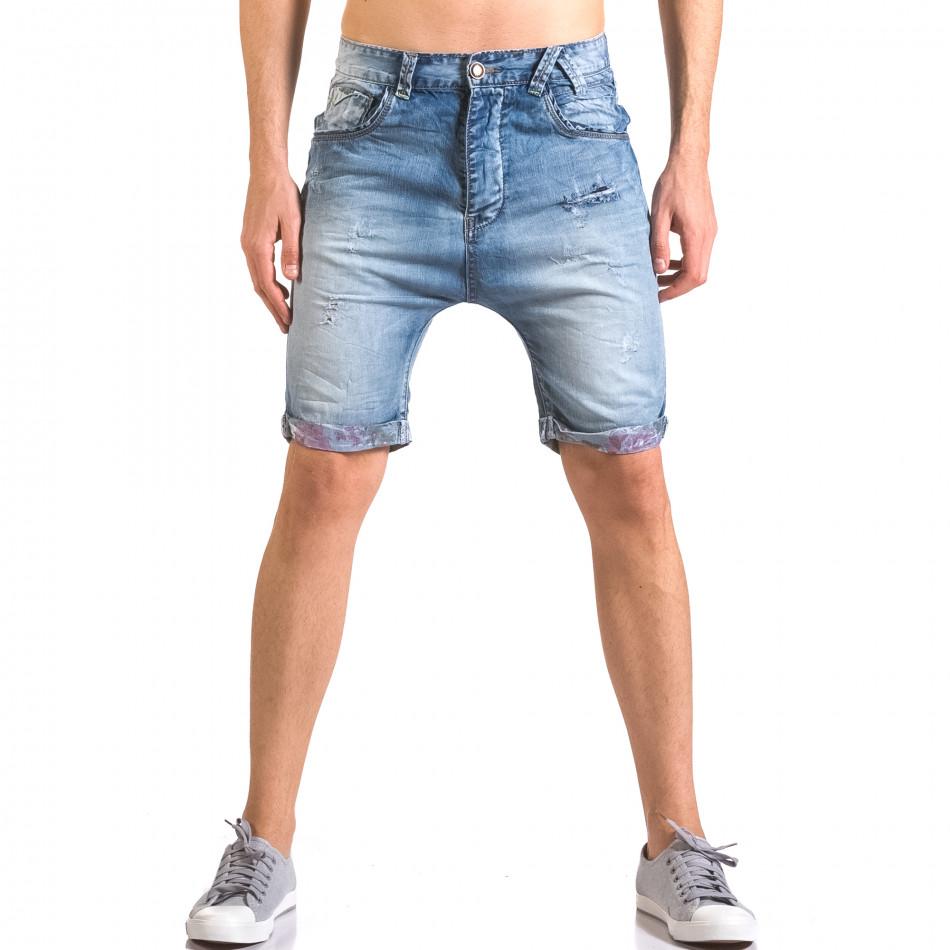 Мъжки къси дънки със скъсвания ca050416-69