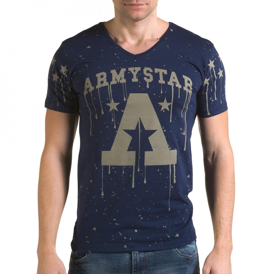 Мъжка синя тениска Armystar il120216-38
