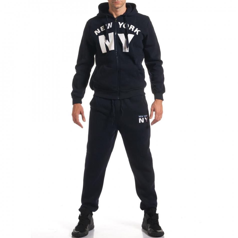 Мъжки син спортен комплект NY it160916-63