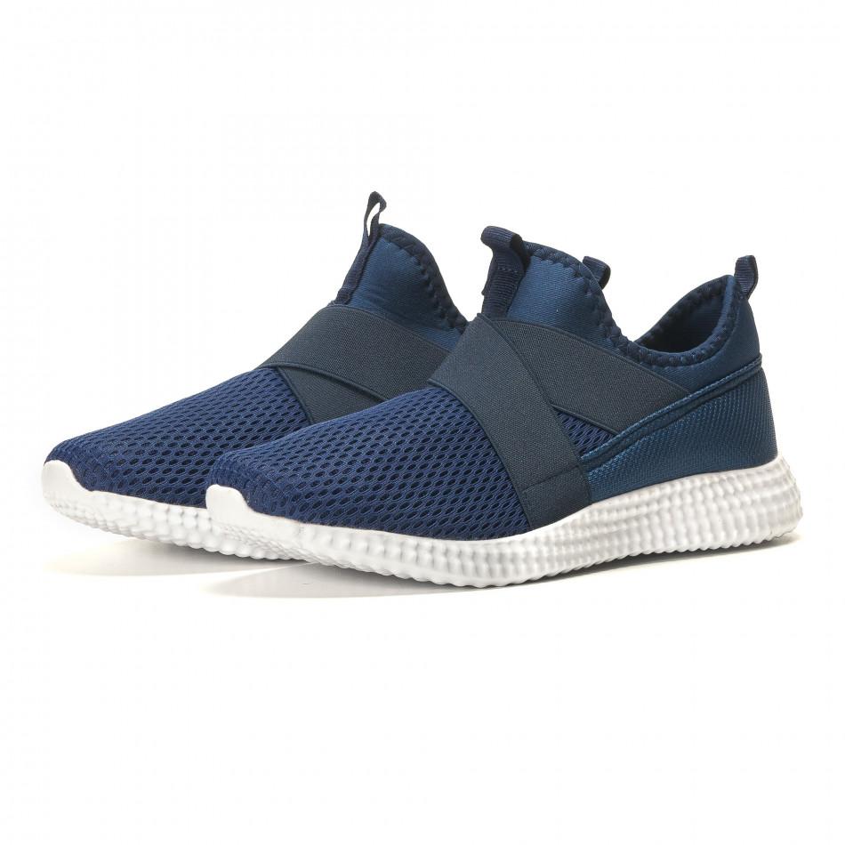 Мъжки сини маратонки без връзки it110517-5