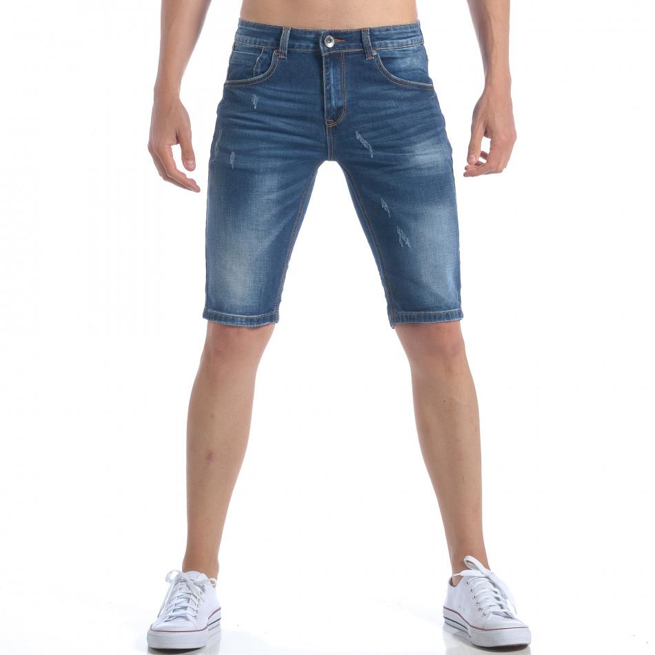Мъжки къси дънки изчистен модел it050617-33