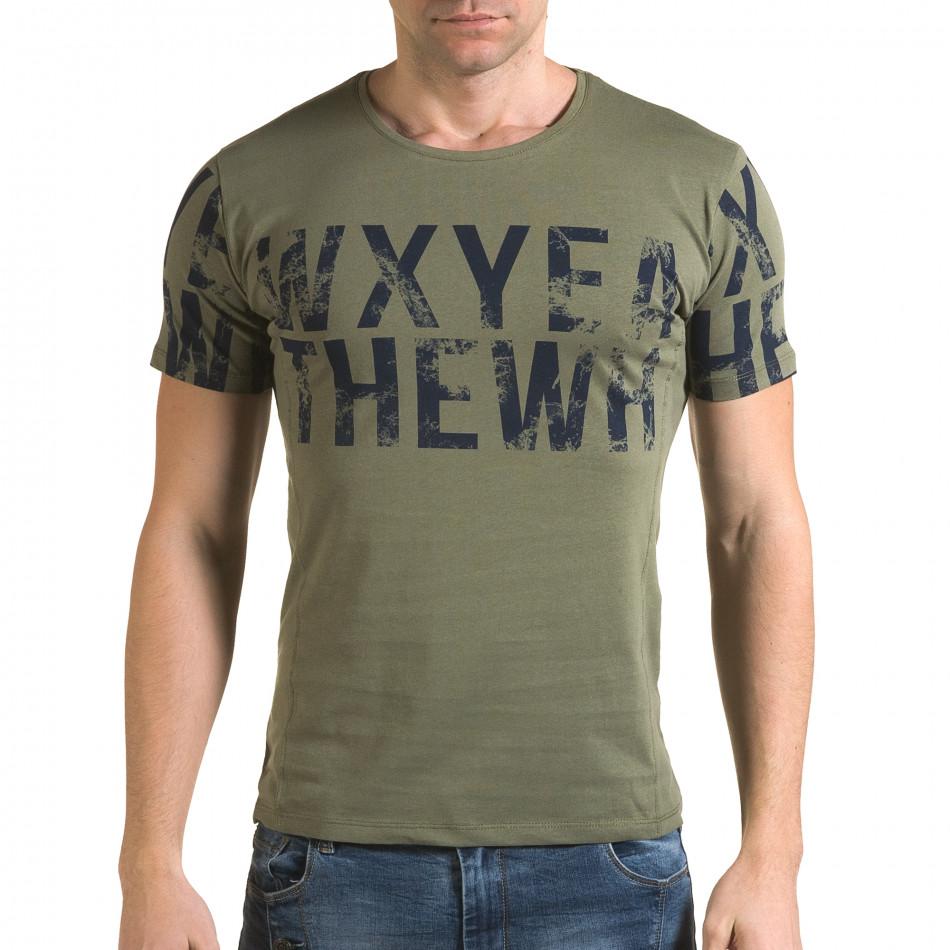 Мъжка зелена тениска Wxyea Thewh il120216-33
