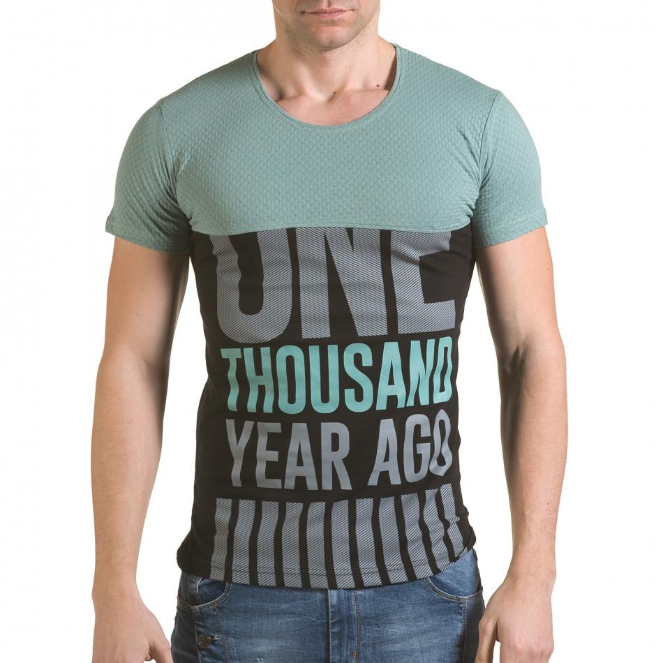 Мъжка зелено-черна тениска One Thousand Years Ago il170216-84