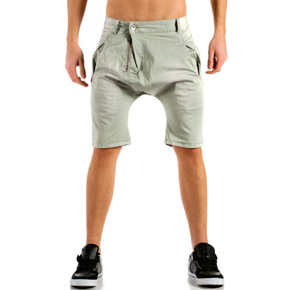 Мъжки сиви къси панталони тип потури ca300315-31
