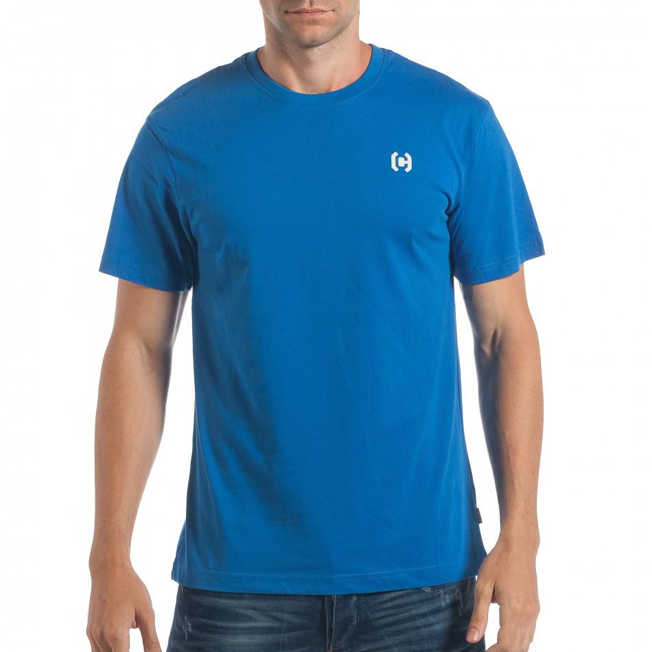 Мъжка синя тениска CROPP изчистен модел lp180717-193