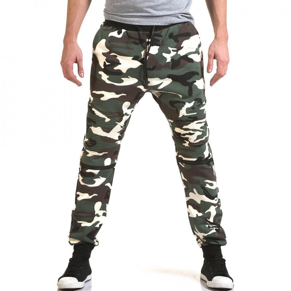 Мъжки зелени камуфлажни потури it090216-59