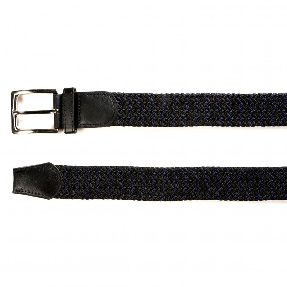 Мъжки синьо-черен плетен колан tsf141015-4