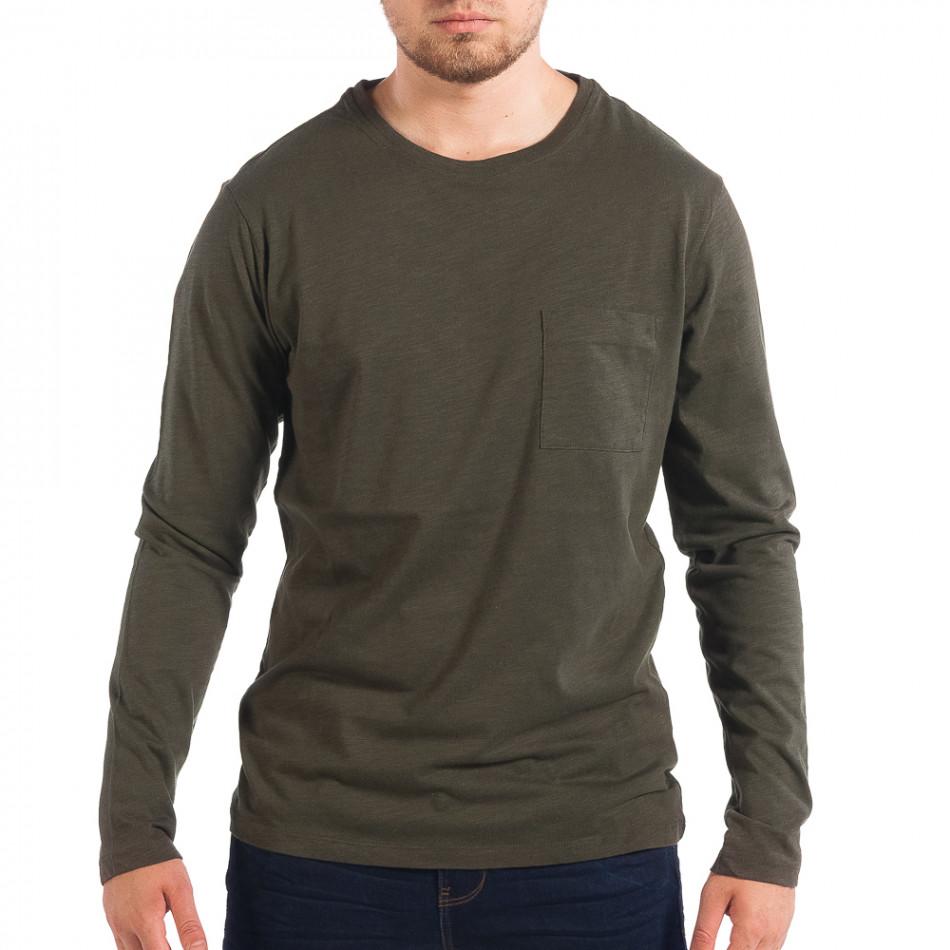 Мъжка зелена блуза RESERVED с джоб lp070818-47