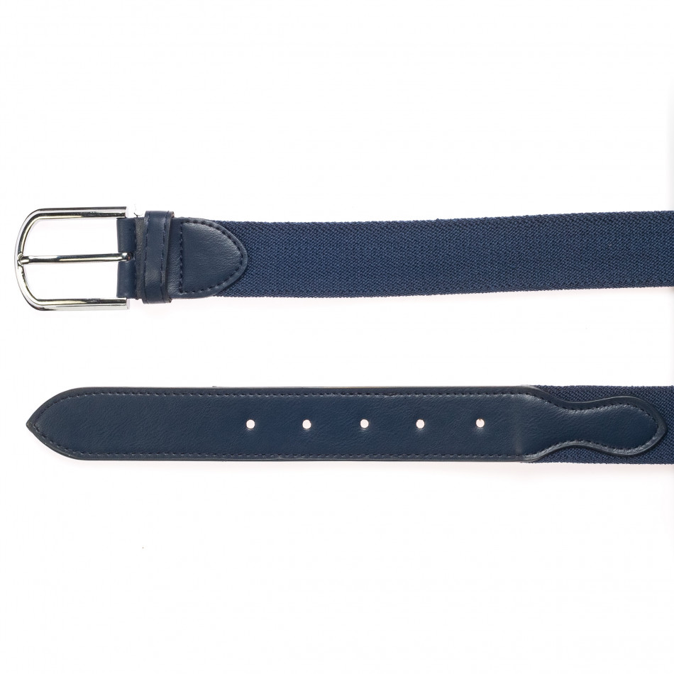 Мъжки тъмно син текстилен колан it250915-18