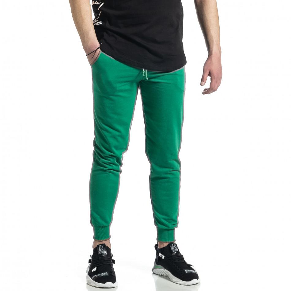 Basic памучно мъжко долнище в зелено it270221-19