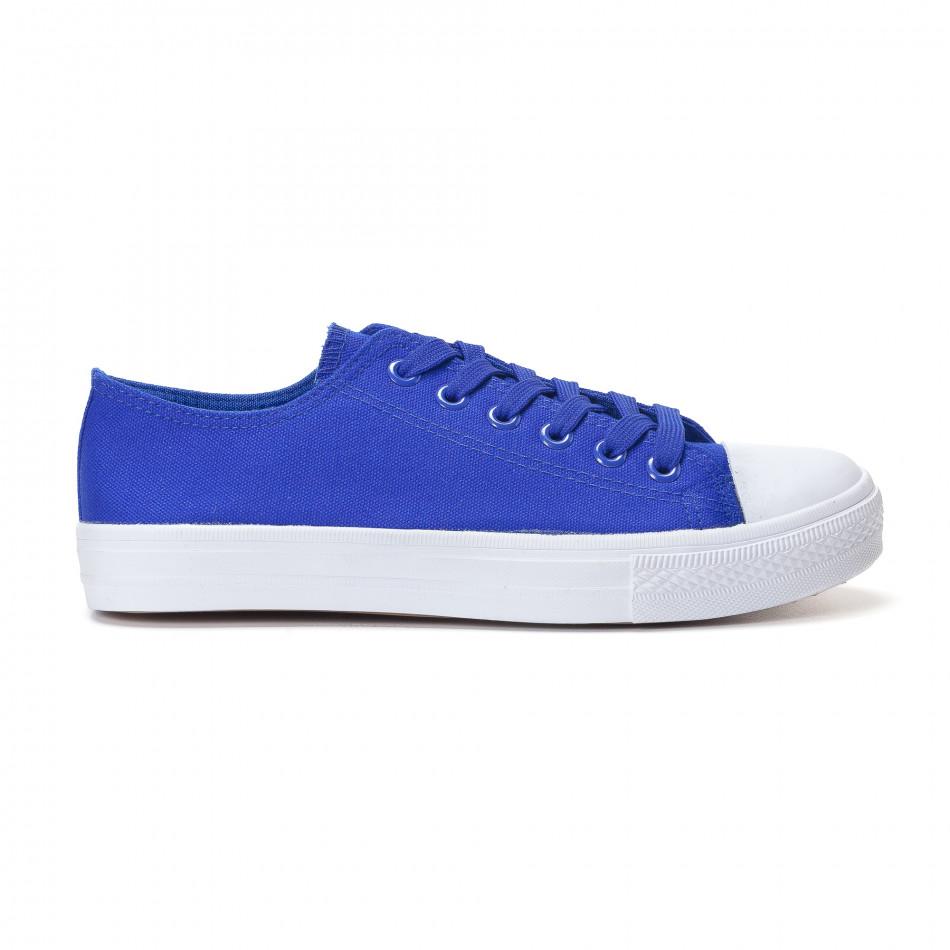 Мъжки сини кецове изчистен модел it250118-1
