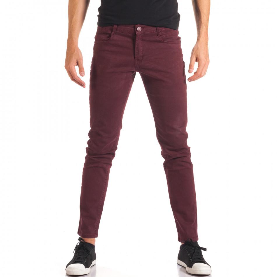Мъжки червен спортно-елегантен панталон it150816-4
