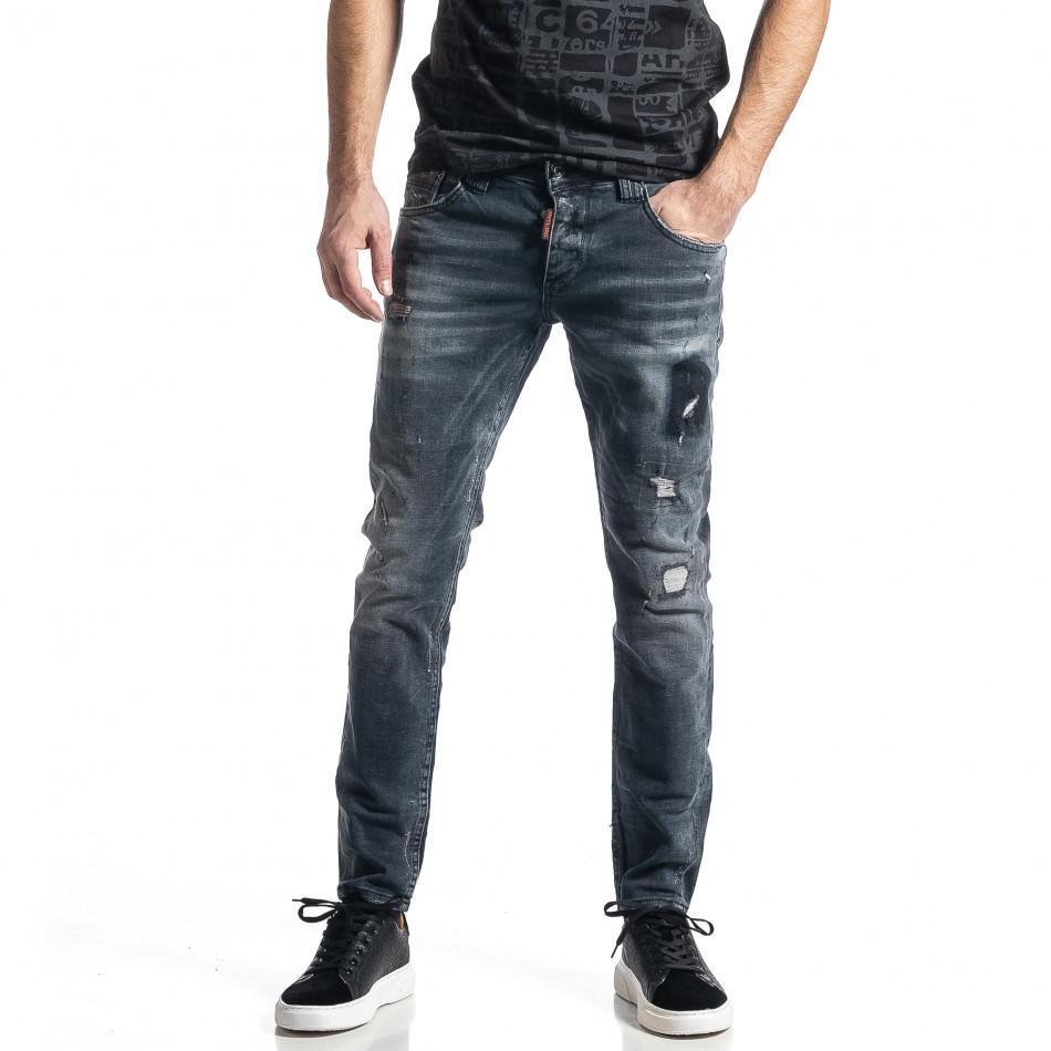 Мъжки сиви дънки Destroyed tr010221-35