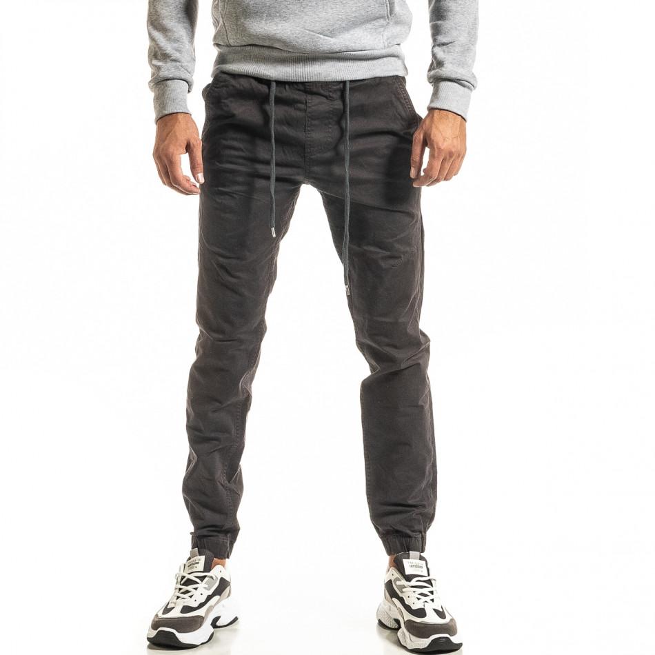 Мъжки сив панталон Jogger tr300920-10