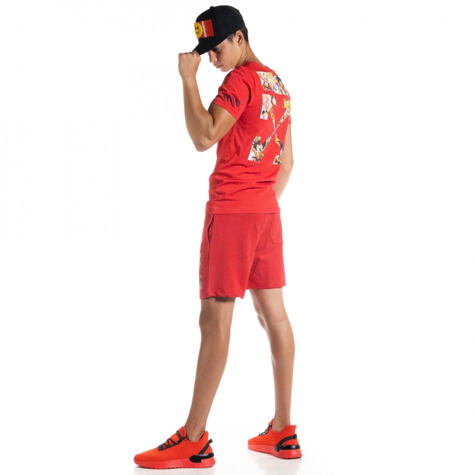 Червен мъжки спортен комплект Naruto tr010720-7